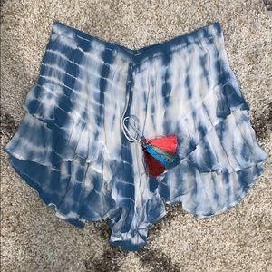 Sky Blue Tie Dye Shorts